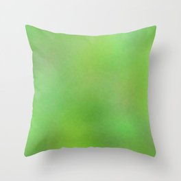 Color gradient and texture 75 green Throw Pillow
