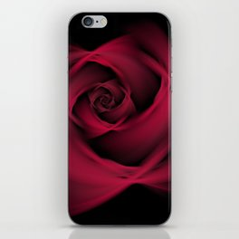 Abstract Rose Burgundy Passion iPhone Skin