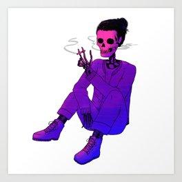 smoke the sad away (synth_wave) Art Print
