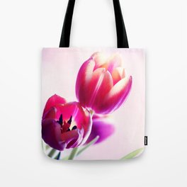 Happy Tulip Greetings Tote Bag