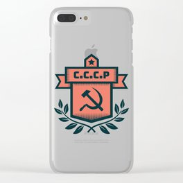 CCCP Modern Coat of Arms Clear iPhone Case