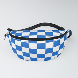 Gingham Brilliant Blue Checked Pattern Fanny Pack