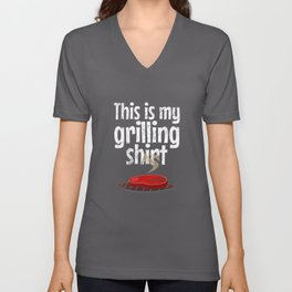 My grilling shirt - barbecue, barbecue Unisex V-Neck