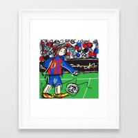 messi Framed Art Prints featuring Messi by Rimadi