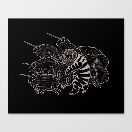On why this variation of baby angora unicorns went extinct  Canvas Print