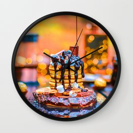 Chocolate Smores Pancakes at a Cabin Wall Clock