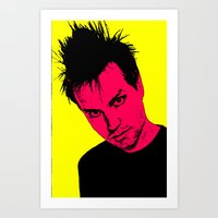 blink 182 Art Prints featuring Mark Hoppus (Blink-182) by ACHE