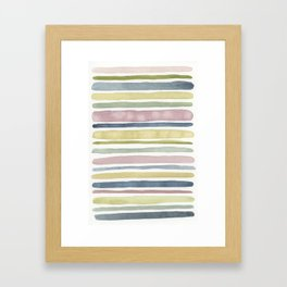 multi stripes Framed Art Print