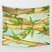 bamboo Wall Tapestries featuring Bamboo by William Gushue