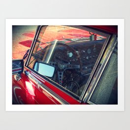 Red jag, Red car Art Print