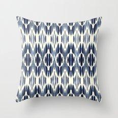 BOHEME INDIGO BLUE Throw Pillow