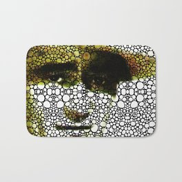 The Duke - A Tribute to John Wayne - Stone Rock'd Art By Sharon Cummings Bath Mat