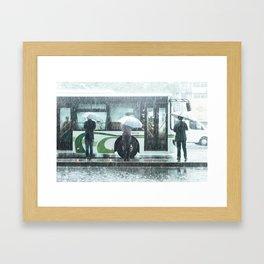 Rainy Day in Shanghai Framed Art Print