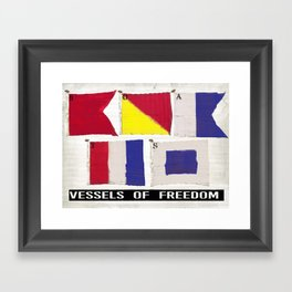 Boat Flags - Vessels of Freedom Framed Art Print