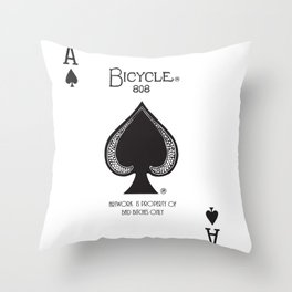 Ace of Bad B's Throw Pillow