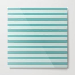Turquoise Beach Stripes Metal Print