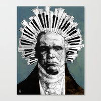 beethoven Canvas Prints featuring Beethoven by Ed Pires