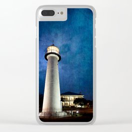 Lighthouse Blues Clear iPhone Case
