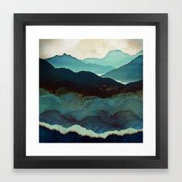 Indigo Mountains Framed Art Print