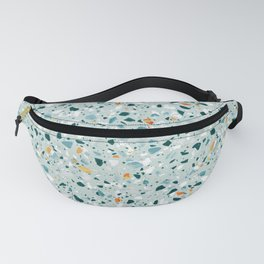 Mint Terrazzo #pattern #abstract Fanny Pack