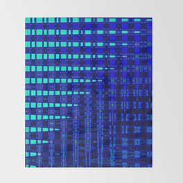 Blue in Shadows Throw Blanket