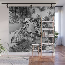 AnimalArtBW_Tiger_20170603_by_JAMColors Wall Mural