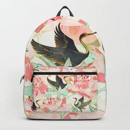 Floral Cranes Backpack