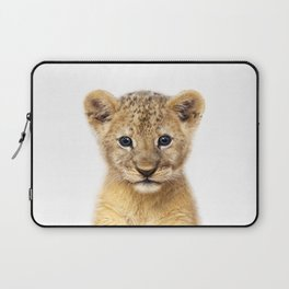 Baby Lion, Baby Animals Art Print By Synplus Laptop Sleeve