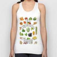 vegetarian Tank Tops featuring Eat A Vegetarian by PerfectImperfections