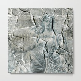 Russian Ruble on Stone Metal Print