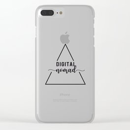 digital nomad triangle Clear iPhone Case
