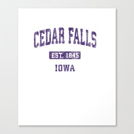 Cedar Falls Iowa IA Vintage Athletic Sports Design Pullover Hoodie Canvas Print