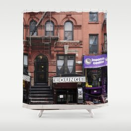 Stores and business in MacDougal Street, NYC Shower Curtain