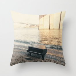 east river piano Throw Pillow