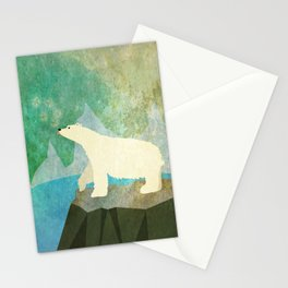Playful Arctic Polar Bear Stationery Cards