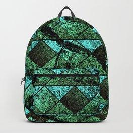 Distressed geometric pattern Backpack