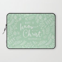 """I Want to Know Christ"" Bible Verse Art Print Laptop Sleeve"