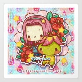 Digimon Tri: Mimi & Palmon Art Print