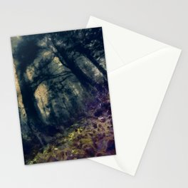 abstract misty forest painting hvhd hffn Stationery Cards