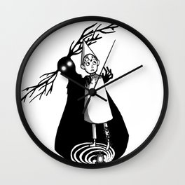 Shadow of the Beast BW Wall Clock
