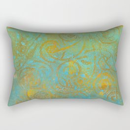 Gelatin Monoprint 21 Rectangular Pillow
