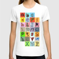 alphabet T-shirts featuring Alphabet by minouette