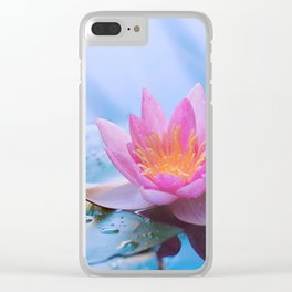 Lone Lotus Clear iPhone Case