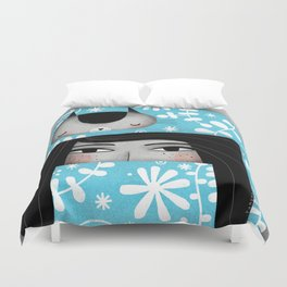 WINTER CAT HAT Duvet Cover