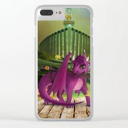 Dragonlings of Valdier: Jade Clear iPhone Case