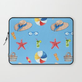 Time for the Beach, Summer Time Fun Laptop Sleeve