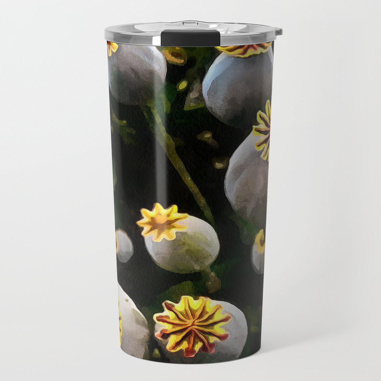 Poppy Seed Pod Travel Mug By Aaenskacholpanova Society6