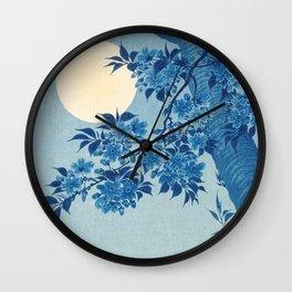 Cherry on A Moonlit Night 小原祥邨。小原古邨の別号 Wall Clock