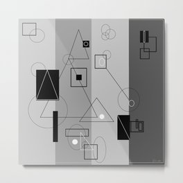 Gray Geometry 3 Metal Print