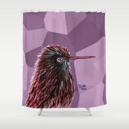 Kiwi Grape Bird Shower Curtain